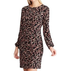 NWT CHAPS Size XL Long Sleeve Floral Dress